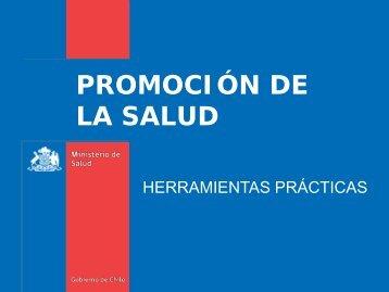 Herramientas practicas en promoción de salud - Ministerio de Salud