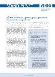 Die Welt von morgen – gerecht, global, gemeinsam - Venro