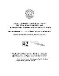 the 2012 thirteenth judicial circuit pro bono service awards and the ...
