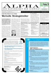 Wertvolle Strategietreiber - Tagesanzeiger e-paper - Tages-Anzeiger