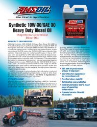 G27 - Data Bulletin - Synthetic 10W-30/SAE 30 Heavy Duty Diesel Oil