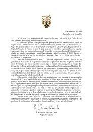 1 17 de septiembre de 2009 San Alberto de Jerusalén A los ...