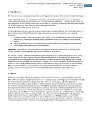 Metacognitive Self-Regulation and Comprehensive Testing in ...