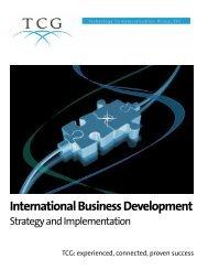 International Business Development - TCG