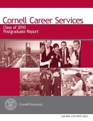 Class of 2010 Postgraduate Report - Cornell Career Services ...