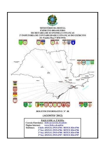 (AGOSTO/ 2012) - 2ª ICFEx - Exército Brasileiro