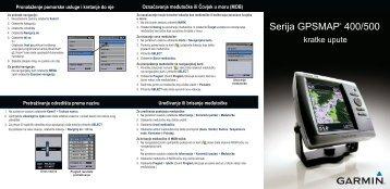 Serija GPSMAP® 400/500