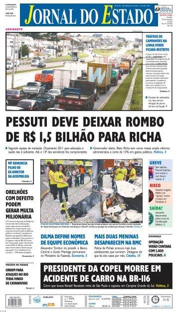 presidente da copel morre em acidente de carro na br ... - Bem Paraná