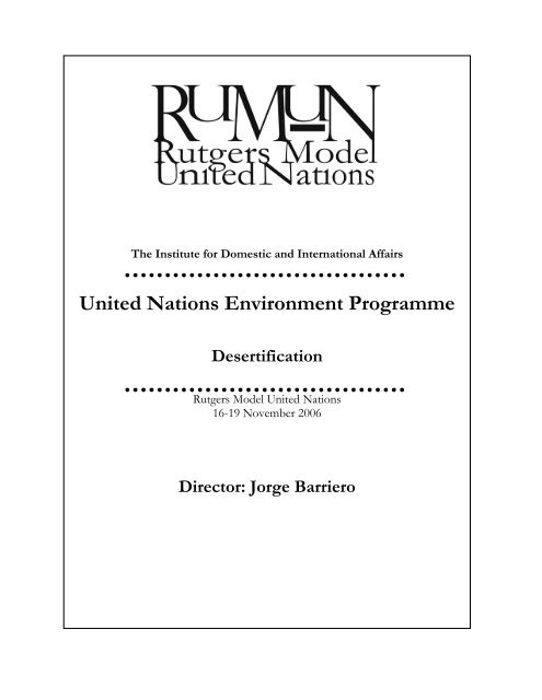 United Nations Environment Programme - IDIA
