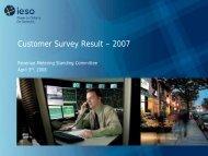 Customer Survey Result – 2007 - IESO