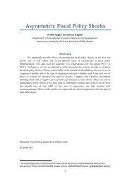 Asymmetric Fiscal Policy Shocks - EABCN