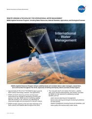 international Water management - NASA's Earth Observing System