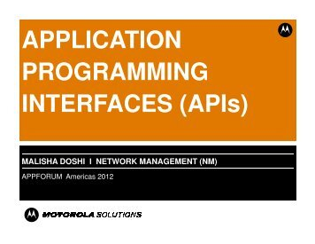network management - Motorola Solutions Launchpad