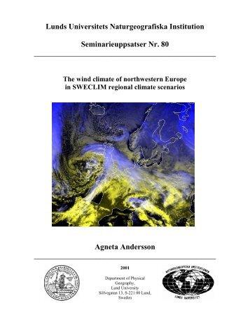 Agneta - Institutionen för naturgeografi och ekosystemvetenskap