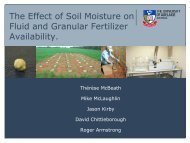 The Effect of Soil Moisture on Fluid and Granular Fertilizer ...