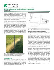 Electric Fencing for Pastured Livestock - Scians.org