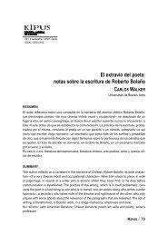 El extravío del poeta: notas sobre la escritura de Roberto Bolaño