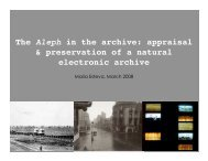 The Aleph in the archive: appraisal & preservation of a natural ...