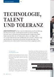 TECHNOLOGIE, TALENT UND TOLERANZ - Creative.nrw