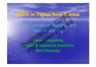 REDD in Papua New Guinea Land, carbon ownership and benefit ...
