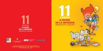 Cartilla Informativa. 11 Acciones A Favor de la Infancia. Versión ...