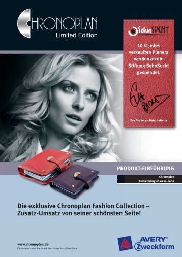 Die exklusive Chronoplan Fashion Collection – Zusatz-Umsatz von ...