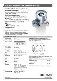 MG5 Manomètre industriel à contacts inductifs - Baumer