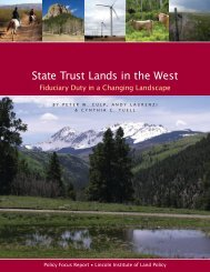State Trust Lands in the West - Lincoln Institute of Land Policy