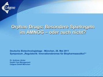 Orphan Drugs - Deutsche Biotechnologietage