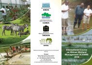 International Course on African Wetland Management (ICAWM) 2010