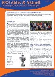 Ausgabe 04/2007 - Betriebssportgemeinschaft Berliner Volksbank eV