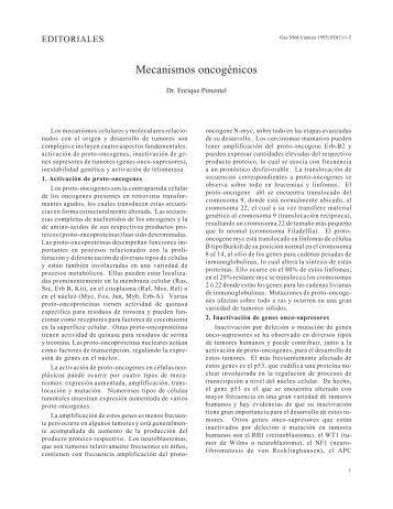 Mecanismos oncogénicos. Alimentación y diabetes. - Academia ...