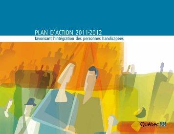 Plan d'action 2011 2012 favorisant l'intégration des personnes ...