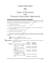 Types of Pronouns and Pronoun-Antecedent Agreement