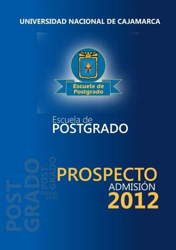 PROSPECTO LISTO.1.1 - Escuela de Postgrado de la Universidad ...