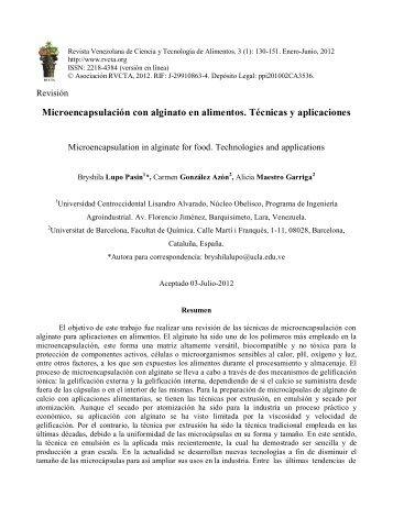 Texto completo - Revista Venezolana de Ciencia y Tecnología de ...