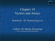 Vectors and Arrays - TAMU Computer Science Faculty Pages