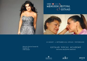 Download the flyer - Menuhin Festival Gstaad
