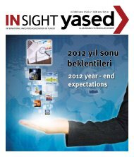 2012 yıl sonu beklentileri - YASED Uluslararası Yatırımcılar Derneği