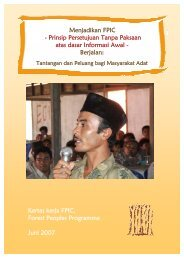Menjadikan FPIC - Forest Peoples Programme