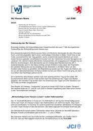 WJ Hessen News Juli 2008 - Wirtschaftsjunioren Hessen