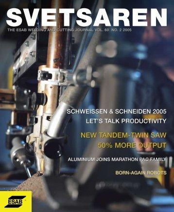 Svetsaren - ESAB Welding & Cutting Products