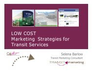 The ABC's of Low-Cost Transit Marketing - CalACT