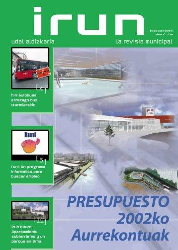 PRESUPUESTO 2002ko Aurrekontuak - Ayuntamiento de Irun