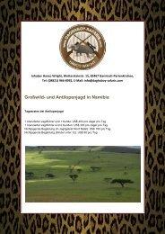 Großwild- und Antilopenjagd in Namibia - DAGHABOY SAFARIS ...