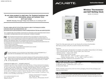acurite wireless thermometer instructions