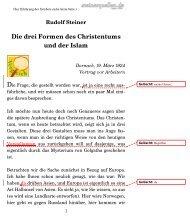 Rudolf Steiner Die drei Formen des Christentums und der Islam