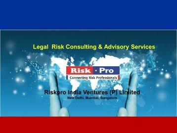 Legal Risk Advisory Services Brochure.pdf - Riskpro