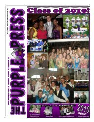 Issue 8, Senior issue - Phoenixville Area School District