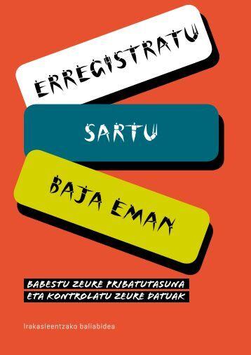 ERREGISTRATU SARTU BAJA EMAN - AVPD - Euskadi.net
